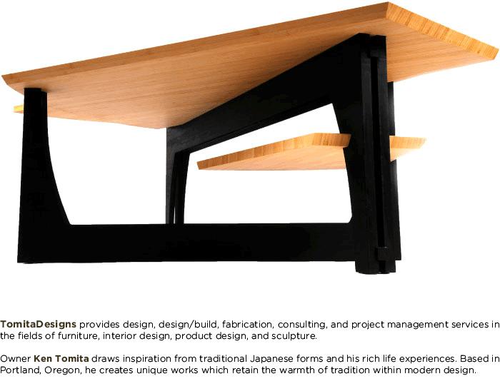 Tomita Designs Contemporary Bamboo, Furniture Builders Portland Oregon